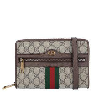 Gucci Beige/Ebony Supreme Canvas Ophidia GG Small Messenger Bag