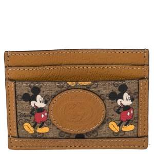 Gucci x Disney GG Supreme and Leather Mickey Mouse Card Holder