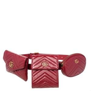 حقيبة خصر غوتشي جي جي مارمونت 2.0 جلد ماتيلاس أحمر متعددة