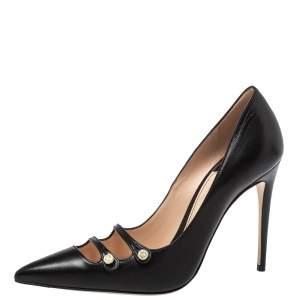 Gucci Black Leather Aneta Pumps Size 38