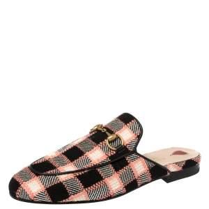 حذاء سلايد غوتشي برينس تاون تويد متعدد الألوان مقاس 36.5
