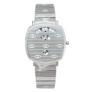 Gucci Silver Stainless Steel Grip YA157410 Women's Wristwatch 38 mm