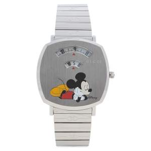 Gucci White Stainless Steel Disney x Gucci Grip YA157419 Unisex Wristwatch 38 mm