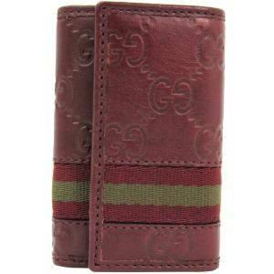 Gucci Red Guccissima Leather 6 Key Case