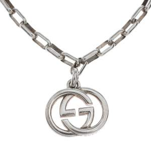 Gucci GG Interlocking Silver Chain Link Bracelet