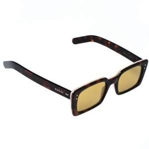 Gucci Havana Brown/ Yellow GG0539S Rectangle Sunglasses