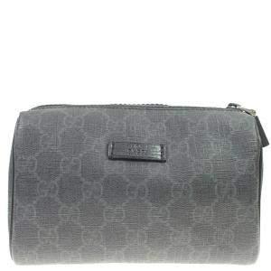 Gucci Grey GG Supreme Canvas Cosmetic Pouch