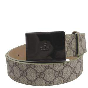 Gucci Brown GG Supreme Canvas  Belt