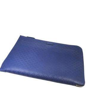 Gucci Blue Leather Laptop Sleeve