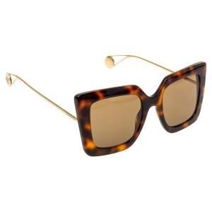 Gucci Brown Tortoise GG0435S Square Sunglasses