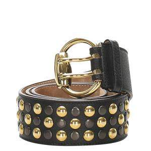 Gucci Black Studded Leather Belt