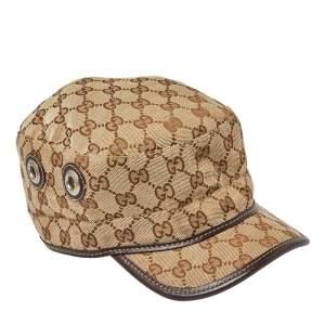 Gucci Beige Guccissima Canvas Cap XL
