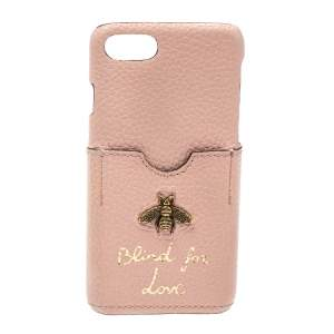 Gucci Pink Leather Blind For Love iPhone 7 Case