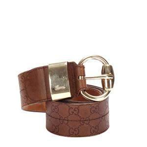 Gucci Brown Guccissima Leather Belt