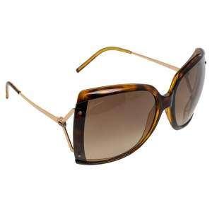 Gucci Tortoise Yellow/Brown GG3533/S Rectangle Sunglasses