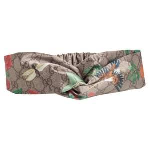 Gucci Beige Tian Print Silk Headband