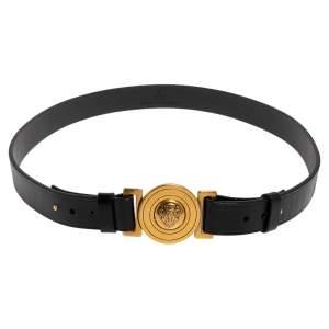 Gucci Black Leather Hysteria Belt 85CM