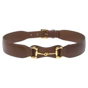 حزام خصر غوتشي جلد بني هورسبيت 80 سم