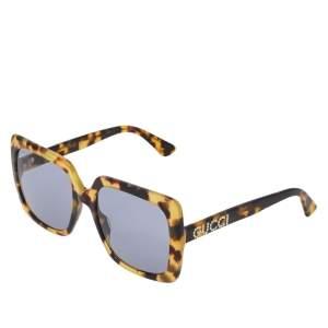 نظارة شمسية غوتشي مربع جي جي0418أس صدف تورتواز هافانا رمادي