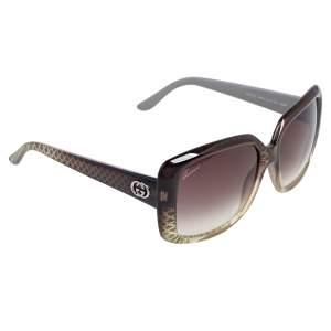 Gucci Beige/Black GG3574/S Oversized Rectangular Sunglasses