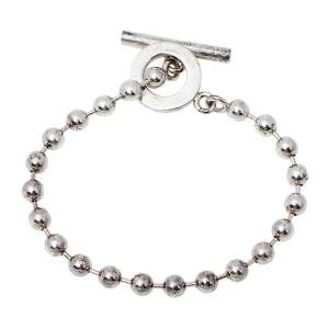 Gucci Sterling Silver Bead Toggle Bracelet