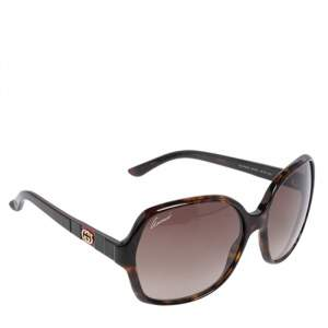 Gucci Brown Tortoise GG 3538/S Gradient Oversize Sunglasses