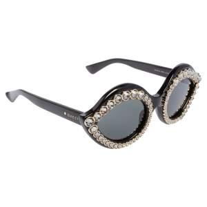 Gucci Black GG 3867/S Crystal Embellished Cat Eye Sunglasses