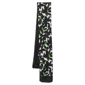 Gucci Black & White Printed Silk Stole