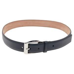 Gucci Blue Leather Classic Square Buckle Belt 85CM