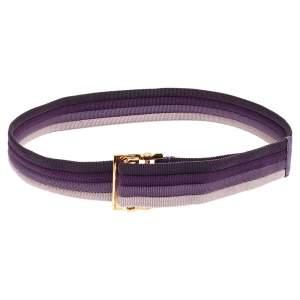 حزام غوتشي كانفاس ملون بإبزيم مربع  85 سم