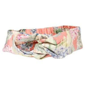Gucci Floral Printed Front Knotted Silk Headband