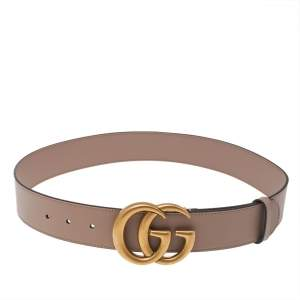 Gucci Dusty Pink Leather GG Marmont Buckle Belt 80 CM