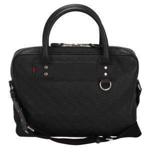 Gucci Black Guccissima Leather Business Bag