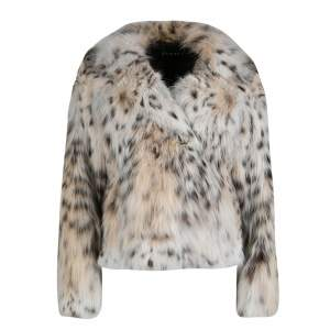 Gucci Beige Lynx Cat Fur Jacket S