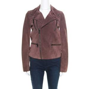 Gucci Dull Purple Suede Biker Jacket S
