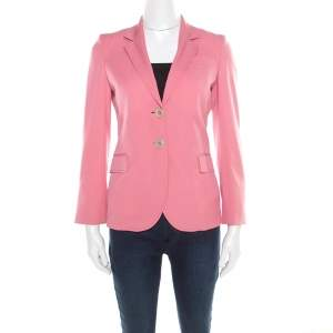 Gucci Flamingo Pink Wool Tailored Blazer S