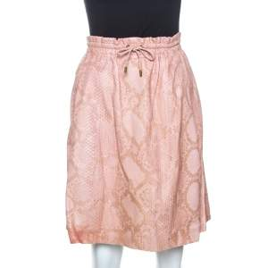 Gucci Pink Python Leather Skirt M