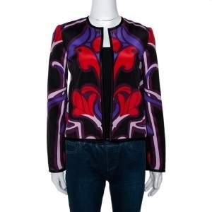 Gucci Multicolor Art Nouveau Floral Print Silk Jacket S