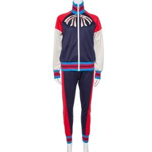 Gucci Navy Blue Cotton Guccify Yourself Printed Tracksuit XS