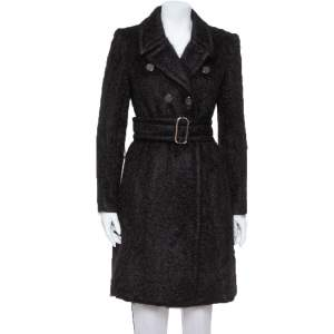 Gucci Black Mohair Belted Coat M
