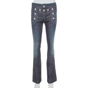 Gucci Indigo Denim Medium Wash Sailor Flare Jeans XS