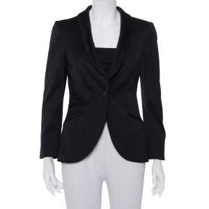 Gucci Midnight Blue Wool Button Front Blazer M