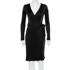 Gucci Black Jersey Wrap Dress M