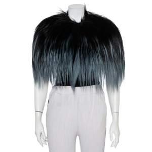 Gucci Black & Blue Fur Bolero (One Size)