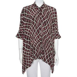 Gucci Black Abstract Printed Silk Button Front Oversized Shirt M