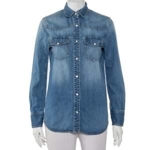 Gucci Blue Denim Button Front Shirt S