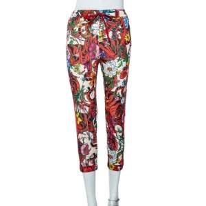 بنطلون رياضي غوتشي تريكو طبعة زهور متعدد الألوان مقاس صغير - سمول
