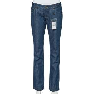 Gucci Blue Denim Straight Fit Jeans M