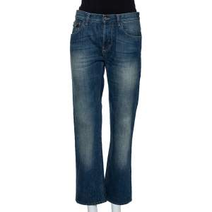 Gucci Blue Denim Faded Effect Regular Fit Jeans M