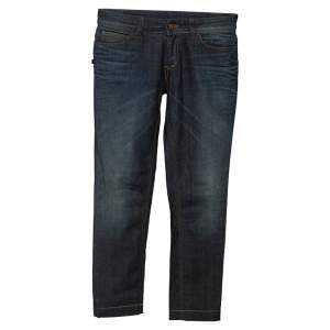 Gucci Blue Faded Effect Denim Legging Jeans S